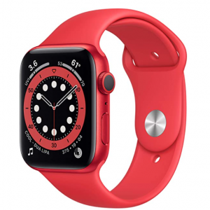 $80 Off New Apple Watch Series 6 (GPS, 44mm) - Red @ Amazon