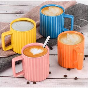NEWANOVI 多彩陶瓷馬克杯4個 12.8oz容量 @ Amazon
