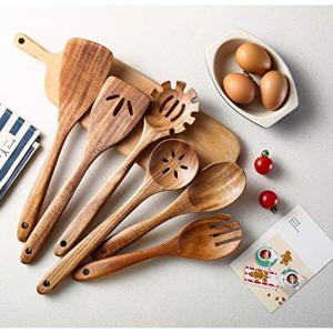 Tmkit 木製勺鏟工具6件套 @ Amazon