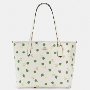 66% Off Coach City Tote With Apple Print @ Coach Outlet