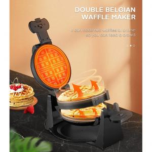 50% OFF AIICOOK 180° Flip Belgian Double Waffle Maker, Waffle Iron 4-Slice @ Amazon