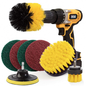Holikme 8 Piece Drill Brush Attachment Set @ Amazon