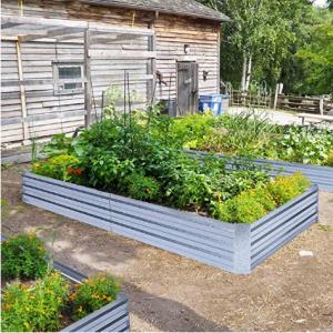 FOYUEE Galvanized Raised Garden Beds, 8x4x1ft @ Amazon