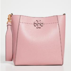 Shopbop官网 Tory Burch Mcgraw 粉色半月形单肩包7折热卖