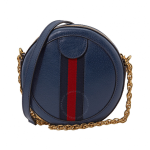 55% Off GUCCI Ophidia Mini Round Shoulder Bag in Blue @ JomaShop