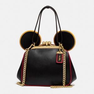 Coach Outlet官網 Coach Disney Mickey Mouse X Keith米奇斜跨吻鎖包5折熱賣