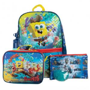 Bioworld 海绵宝宝儿童双肩包+午餐袋+水杯+铅笔袋+冰袋 5件套