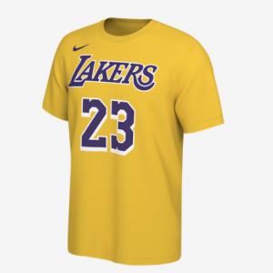 Champs Sports官網 Nike NBA 洛杉磯湖人隊詹姆斯23號籃球短袖T恤5折熱賣