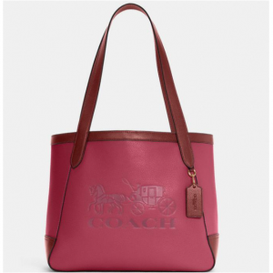 65% Off Coach Tote In Colorblock With Horse And Carriage @ Coach Outlet