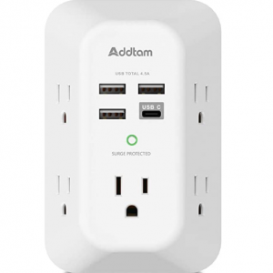 32% off USB Wall Charger Surge Protector 5 Outlet Extender with 4 USB Charging Ports @Amazon