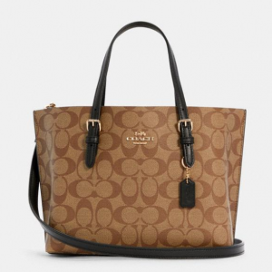 55% Off Coach Mollie Tote 25 In Signature Canvas @ Coach Outlet