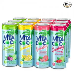 Vita Coco 多种果味汽泡椰子水 12oz 12罐 @ Amazon