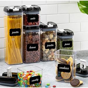 Seseno 透明密封食物保鲜罐7件套 @ Amazon