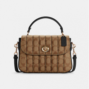 60% Off Coach Marlie Top Handle Satchel In Signature Canvas With Quilting @ Coach Outlet