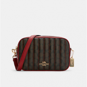 Coach Jes Crossbody In Signature Canvas With Quilting @ Coach Outlet