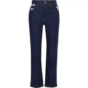 ACNE STUDIOS Log Printed High-rise Straight-leg Jeans Sale @ THE OUTNET