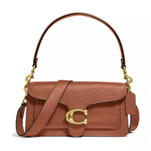40% Off COACH Mixed Leather with Polished Pebble Tabby Shoulder Bag @ Belk