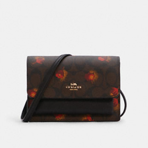 60% Off Coach Foldover Belt Bag In Signature Canvas With Pop Floral Print @ Coach Outlet