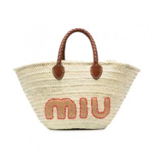 Cettire官网 Miu Miu Logo 编织托特包67折热卖