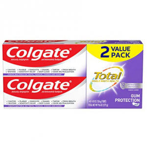 Colgate Total Gum Protection Toothpaste,  4.8 Ounce (2 Pack) @ Amazon