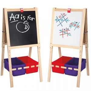 Cra-Z-Art 3-in-1 Smartest Artist Standing Easel- Chalk Board, Dry Erase Board & Storage @ Amazon