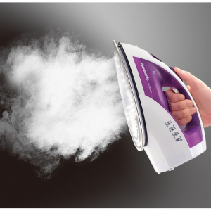 Steam Circulating Iron with Curved Non-Stick Stainless-Steel Soleplate NI-E660SR @ Panasonic