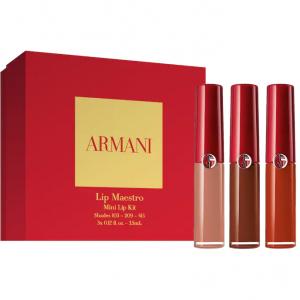 Sephora上新!Armani Beauty红管唇釉迷你3支套装含103 209 415