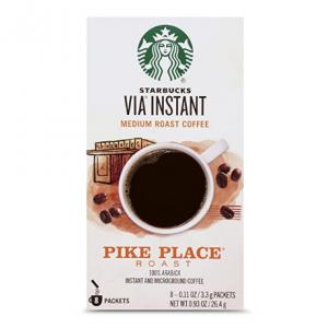 Starbucks VIA Pike Place 中焙速溶咖啡 8條裝 @ Amazon