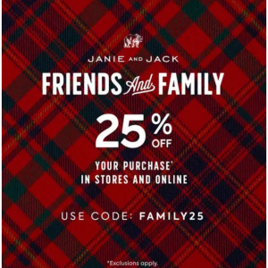 Friends & Family Sale - 25% Off Your Purchase @ Janie and Jack
