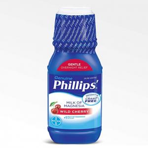 Phillips ' Milk of Magnesia Liquid Laxative, Wild Cherry, 12 Fl Oz @ Amazon