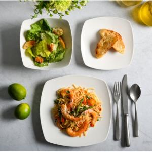 Gibson Home Everyday Square 12-Piece Dinnerware Set @ Walmart