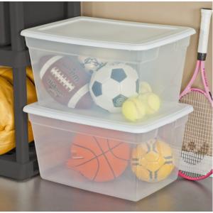 Sterilite 58 Qt. 超大塑料收納箱 家居收納床品、衣物必備 @ Walmart