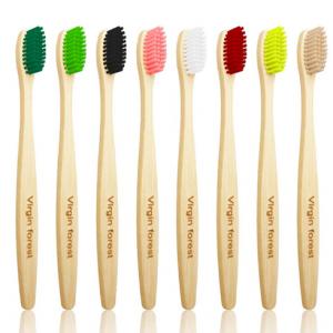 Virgin Bamboo Toothbrush for Sensitive Gums Medium Bristle Set of 8 Color @ Amazon