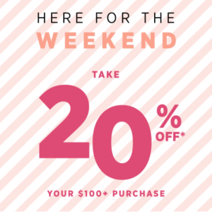 20% Off $100+ Sitewide Sale @ Saks OFF 5TH