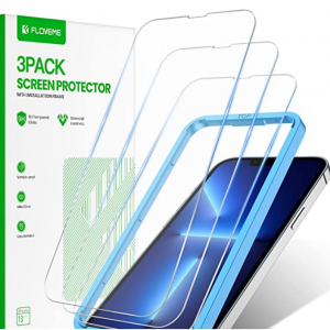 Amazon - FLOVEME iPhone 13/13 Pro 钢化膜,现价$3(原价$13.95)