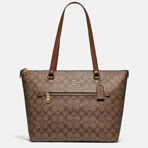64% Off Coach Gallery Tote In Signature Canvas @ Coach Outlet